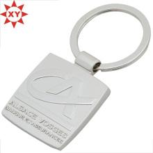 Großhandel billig eingraviert Logo Metall Schlüsselbund