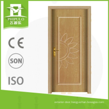 Cheap bedroom furniture prices newest style standard size pvc wood door with nice quality