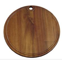 Good Quality for Offer Wood Cutting Board,Thickness Wood Cutting Board,Paddle Shape Wood Cutting Board From China Manufacturer Round Acacia Chopping Board With Hanging Hole supply to Serbia Factory
