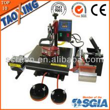 Hecho en China precio bajo de la fábrica QX-A6 6 en 1 máquina de la transferencia de calor para el paño y la placa