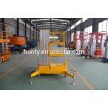 Elevador hidráulico vertical móvil para hombre Elevador telescópico de aluminio para un hombre