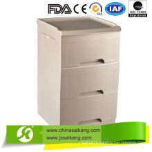 Hospital ABS Bedside Cabinet with Shoes Shelf