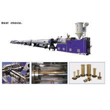 Chaîne de production simple d'extrusion de tuyau de PE HDPE PPR d'extrudeuse à vis