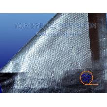 Tela de aluminio ignífugo de la fibra de vidrio con la malla / papel de aluminio backed el paño de la fibra de vidrio