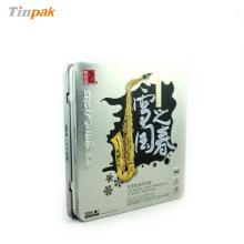 dongguan rectangular single DVD tin packaging holder box