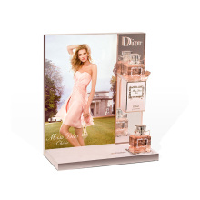 Acrylic Elegant Perfume Display Stand Showcase