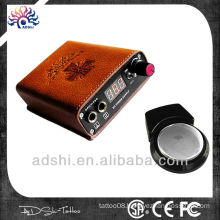 Manufactured portable wireless rechargeable tattoo power supply