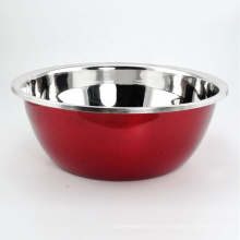 big size luxury colorful coating stainless steel fruit salad bowl