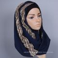 Mista de fantasia planície sólida mista atacado senhoras extravagantes árabe muçulmano Hijab