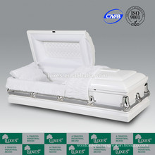 LUXES American New Style Wooden Caskets White Funeral Caskets