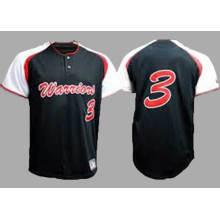 100% Polyester Sublimation Printing Ladies Maillot de baseball en blanc