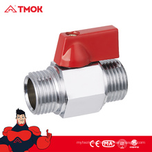 TMOK hot selling equal shape male thread DN8 brass chrome plated mini ball valve with high quality and nice price
