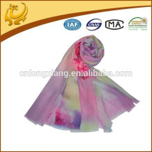 Muslim Stole Digital Printed 100% Matériel de laine Vente en gros New Styles Fashion Scarf Shawl