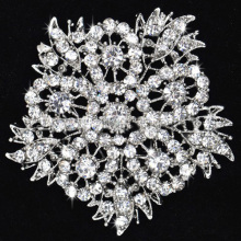 Fashion Jewelry Vintage Silver Plated Rhinestone flower Brooch Pin Crystal bridal Brooches wholesale