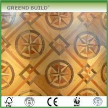 Chão de parquet de cor dourada de design legal