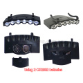 6 LED Clip On Light Super Bright Hands Free Head Torch Camping