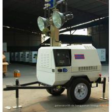 T1000 Serie Mobile AC 3 Phase Mobile LED Diesel Generator Turm Licht