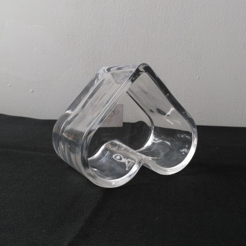 Clean Heart Shape Glass Tealight