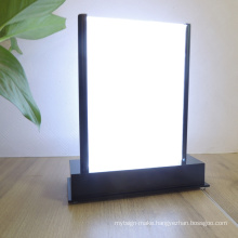 Double Sided Acrylic Table Stand Led Lighting Sign Frame Display Stand Card Menu Holder