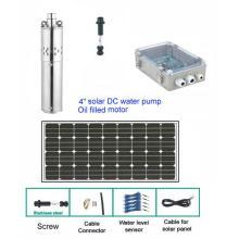 Pompe solaire de 4 po avec panneaux / câble