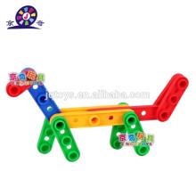 2015 new item Bloque de plástico para niños fabricando juguetes para preescolar