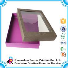 Cajas de ropa de lujo de exhibición de cartón con ventana de pvc