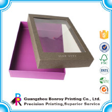 Cardboard display luxury apparel boxes with pvc window