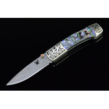 damascus steel folding knives and handcrafted knives,folding knives for sale