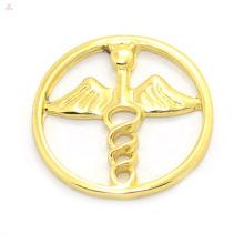 Venda quente 18 k liga de ouro encantos flutuantes barato janela medalhão asas de anjo jóias