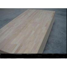 4 * 8 pés 9- 40mm 100% placa de junção de dedo de madeira de borracha de Tailândia