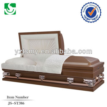 JS-ST386 top quality metal caskets