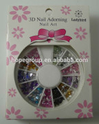 nail deocration in a wheel-arcylic plastic polymer clay