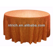 Nuevo estilo triturado/arruga manteles para el banquete