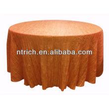 Novo estilo esmagado/dobra toalha de mesa para banquete