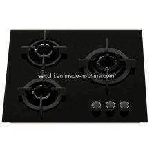 Cuisinière à gaz en verre trempé à 3 brûleurs -Gna360