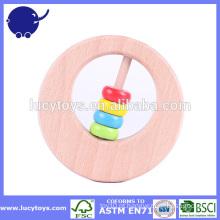 Brinquedo europeu do bebê de Teether do bebê da madeira natural
