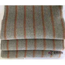 Brown Vertical Stripe 100% Fabric Wool