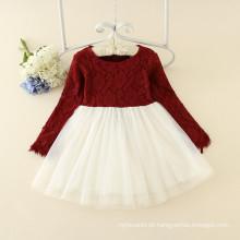 süße Mädchen Lolita Stil Kleidung Baby Mädchen Rundhalsausschnitt Prinzessin rosa formale Partei Kleidung Fabrik Preis billig neuesten Designs