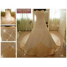 Moda deslumbrante design de vestido de casamento de venda quente
