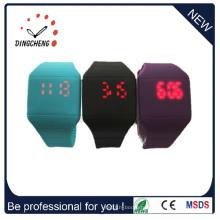 Логотип приемлемого силиконовые светодиодные часы (ДК-368)