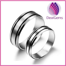 Couple stainless steel ring for wedding wholesale price