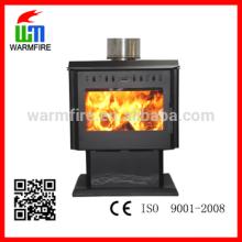 Model WM204B-2500 high effiency black steel 25kw wood stove with fan
