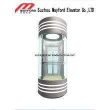Stahlplatte panoramischer Aufzug mit quadratischer Art