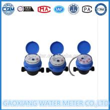 Medidor de agua Jet Impulse simple Dn15-Dn25