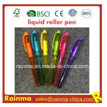 Пластиковые жидкость Авторучка с хорошей Холодопроизводительности Цвет