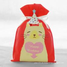 Rote Geburtstags-Reihen-Katzen-Muster-Geschenk-Tasche