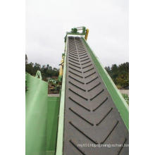 Chevron Rubber Conveyor Belt with Ribs and Four Lays of Nylon