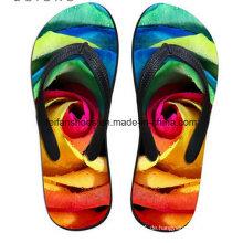Neueste Design 3D-Druck Casual Flip Flop Slipper Schuhe (FF68-12)