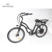 Bicicleta eléctrica del crucero de la playa del motor trasero del eje de 48v 1000w para las muchachas