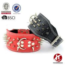 Stud leather belt dog collar